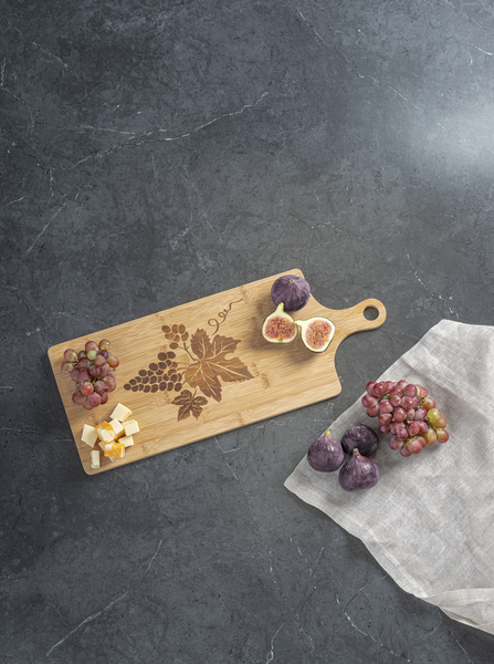 Laser Art Wooden Serving Board- Grapes
