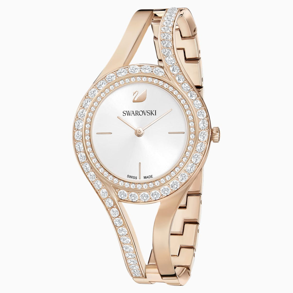 Eternal Watch, Metal bracelet, White, Champagne-gold tone PVD