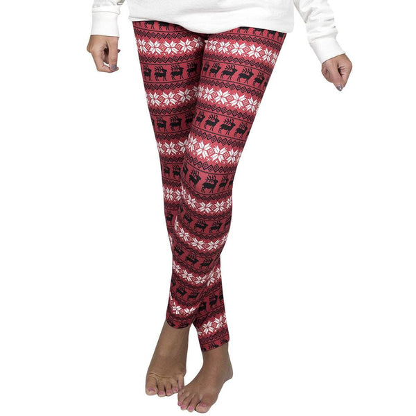 Camper Leggings, Reindeer Red