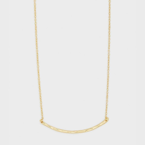 Taner Bar Necklace, Small, Gold