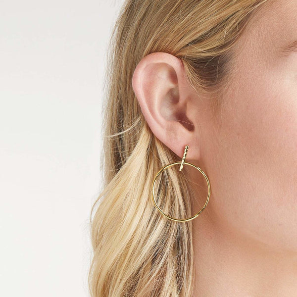 Balboa Drop Earrings Gold