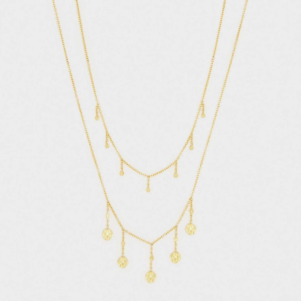 Stella Layered Necklace Gold