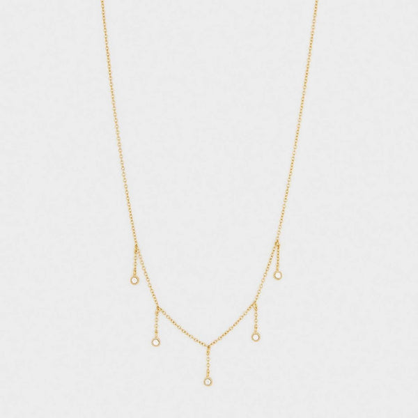 Eloise Necklace Gold- White CZ