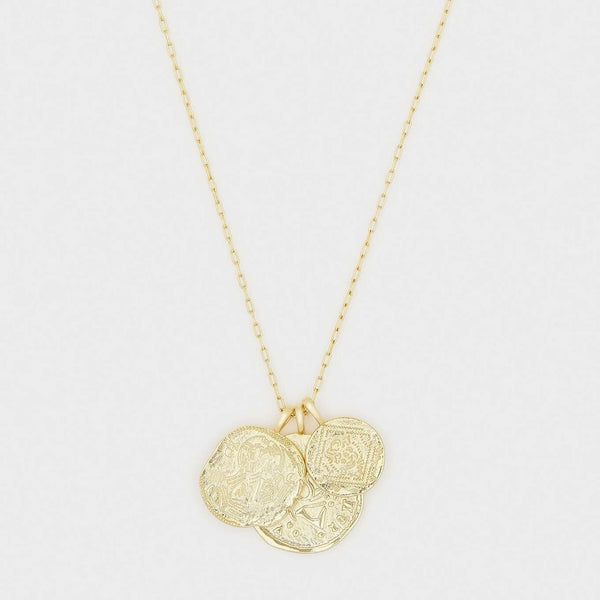 Ana Coin Pendant Necklace Gold