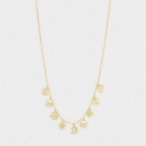 Ana Coin Necklace Gold