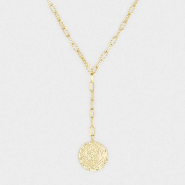 Ana Coin Lariat Gold