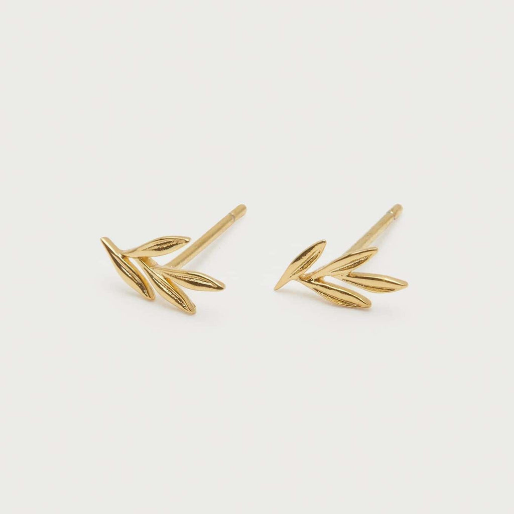 Willow Charm Studs Gold