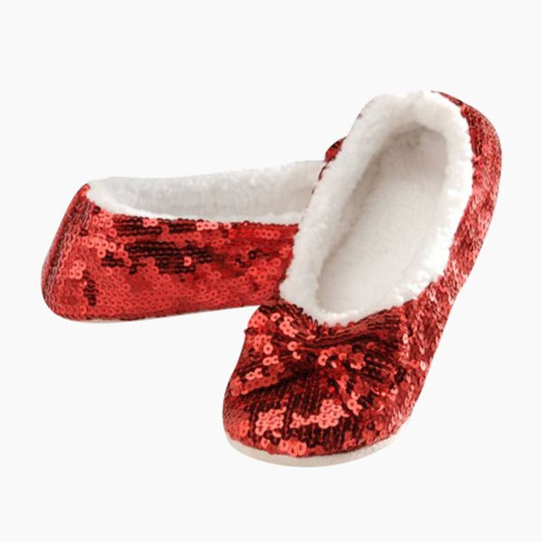 Women's Classic Bling Snoozies in Ruby Red