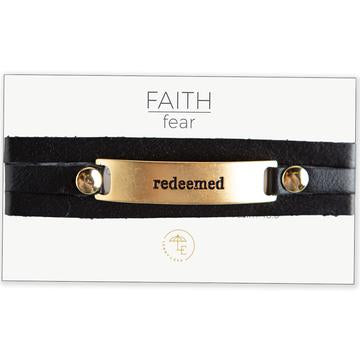Faith Over Fear Wrap Bracelet, Gold