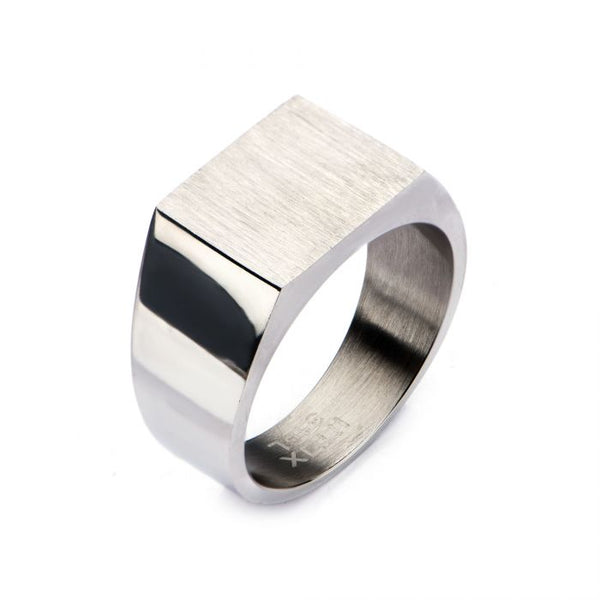 Steel & Engravable Polished Ring
