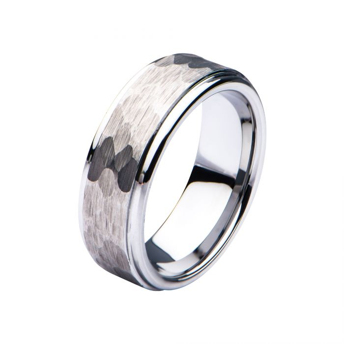 Steel Hammered Ring