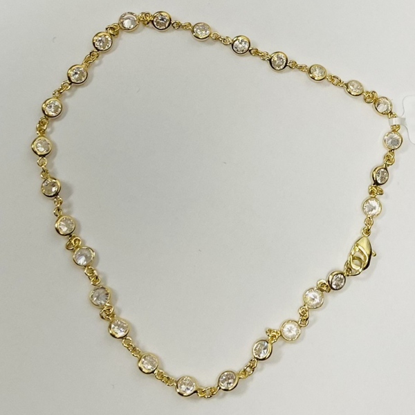 Gold Circle Anklet