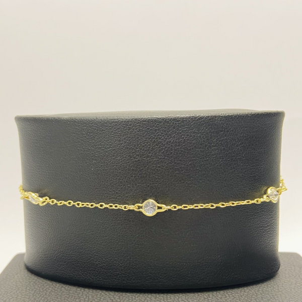 Gold Clear Stone Anklet