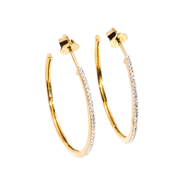 Head Turning Medium Hoop Earrings - Gold