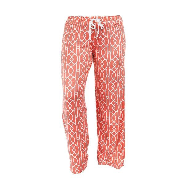 Leisture Time Lounge Pants, Orange Pattern