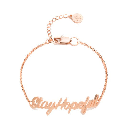 Hopeful ID Bracelet, Rose Gold