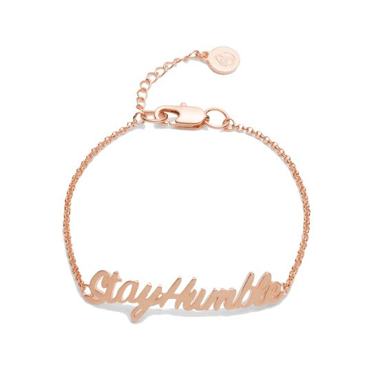 Humble ID Bracelet, Rose Gold