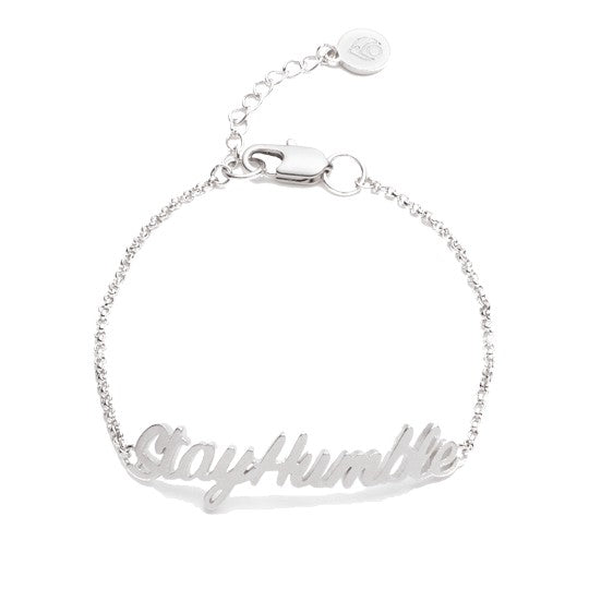 Stay Humble, ID Bracelet Silver