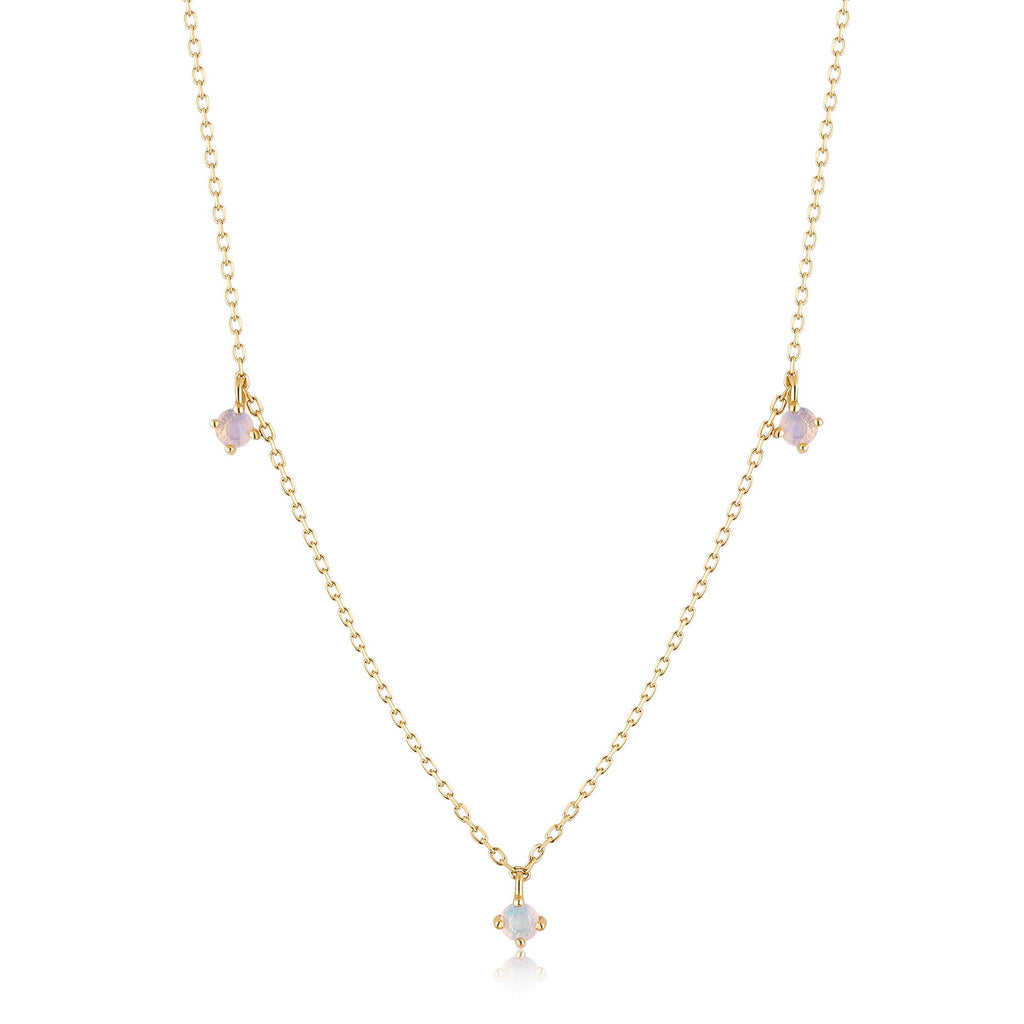 Opal Studded Delicate Chain
