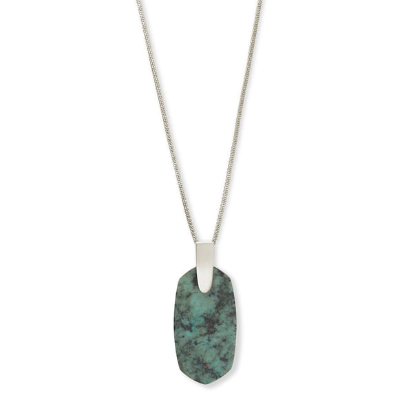 Inez Necklace Rhod African Turquoise