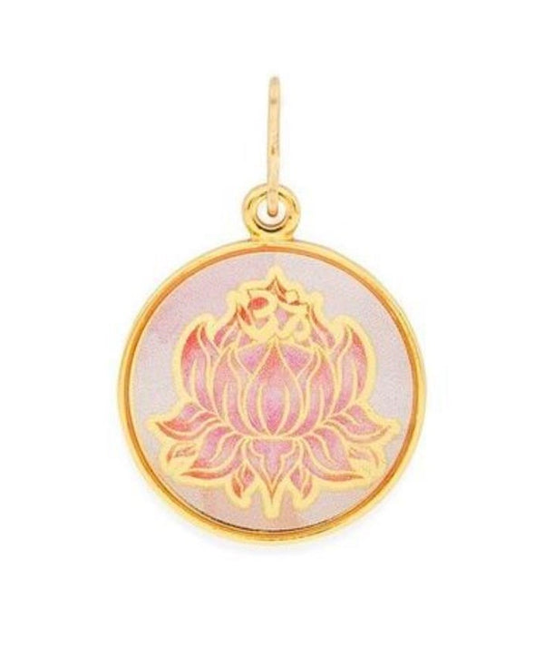 Necklace Charm - Art Infusion, Lotus Peace Petals, YG