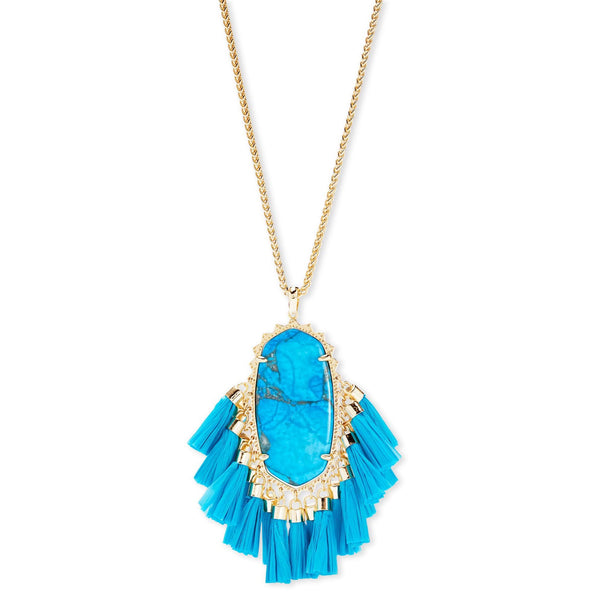 Betsy Gold Turquoise Necklace