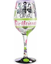 Girlfriends Together Wine Glass
