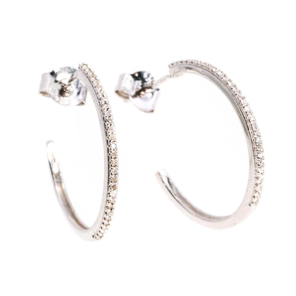 It's A Hoop Thing Small Hoop Earrings - Silver