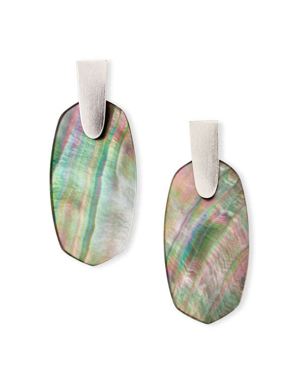 Aragon Earring, Rhod Black Mother of Pearl