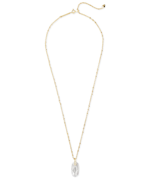Camila Necklace Gold Lustre Glass CZ