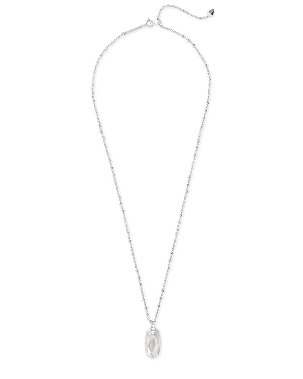 Camila Necklace Rhod Lustre Glass CZ