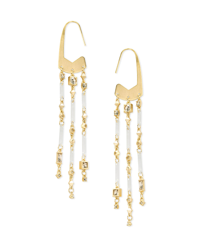 Corza Earring, Gold, Smokey