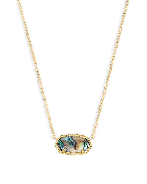 Elisa Necklace, Gold Abalone Shell