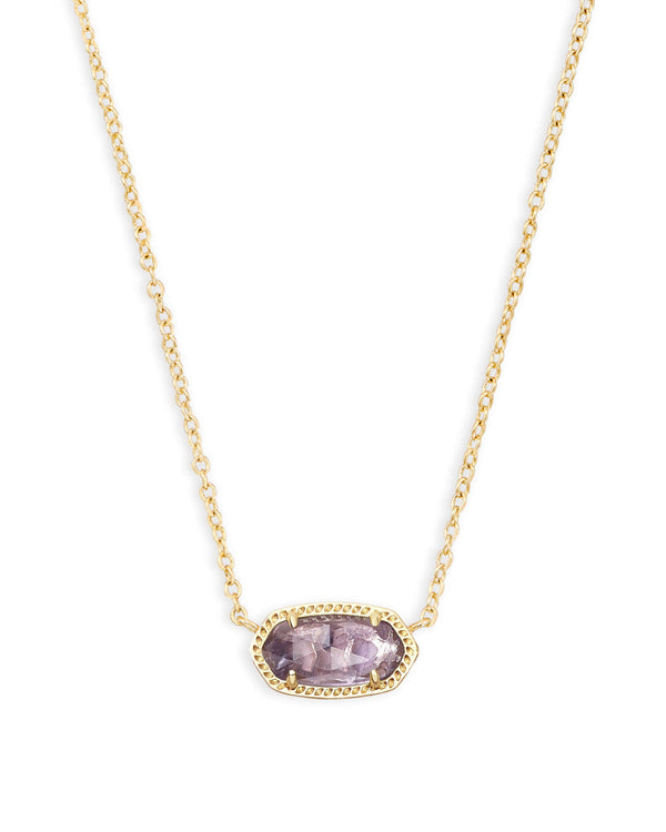 ELISA NECKLACE GOLD AMETHYST