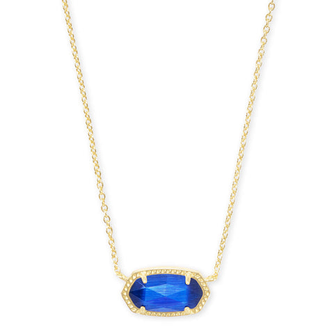 ELISA NECKLACE GOLD COBALT CAT'S EYE