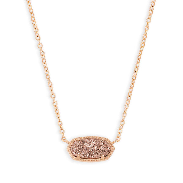ELISA NECKLACE RSG ROSE GOLD DRUSY