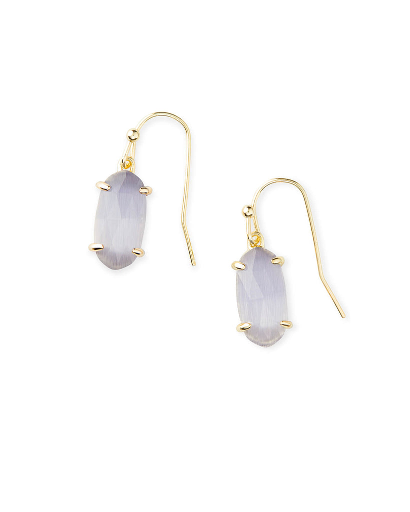 Lemmi Earring Gold Slate Cats Eye