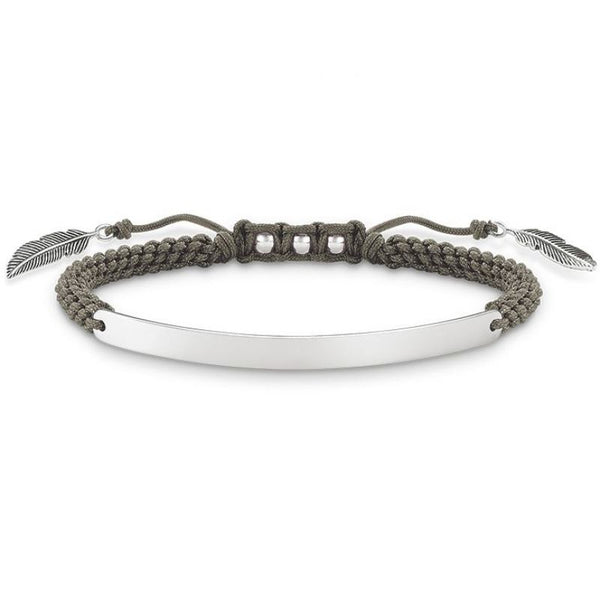 Silver/Grey Feather Love Bridge Bracelet