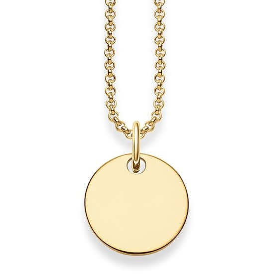 Love Bridge, Gold Circle Necklace, 40-45 cm