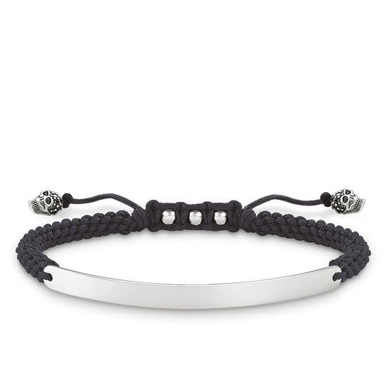 Black Skull Love Bridge Bracelet