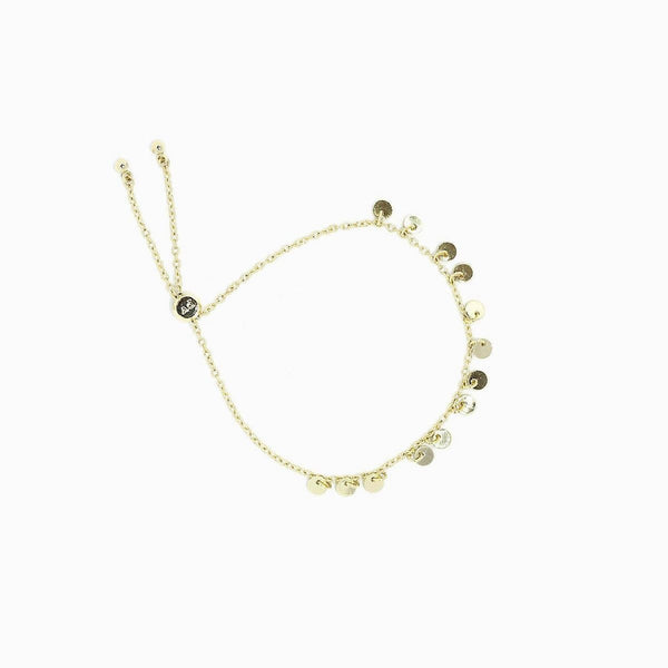 Gold Mini Coin Bracelet