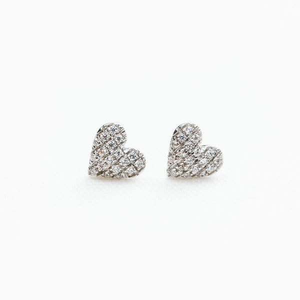 Mini Heart Earring, Sterling Silver