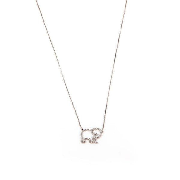 Elephant Mom Necklace - Sterling Silver