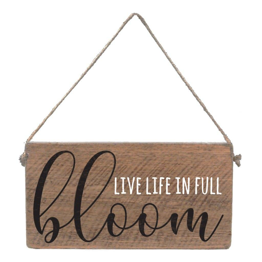 Mini Plank - Live Life in Full Bloom - Natural, White, Black