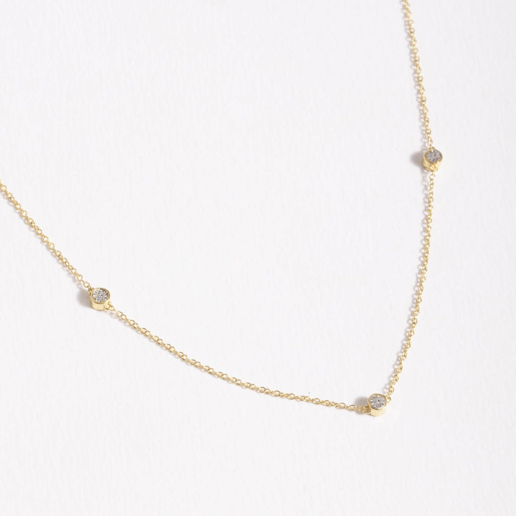 Dot to Dot Necklace, Gold