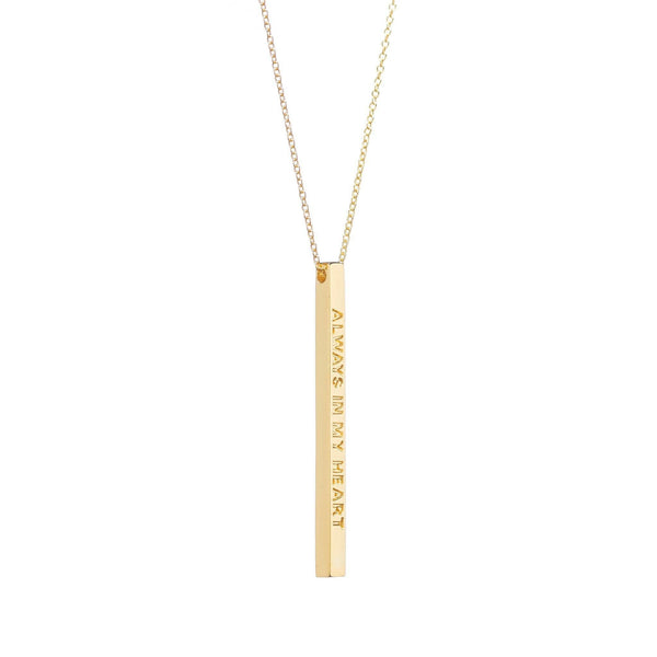 Always In My Heart Necklace, Gold