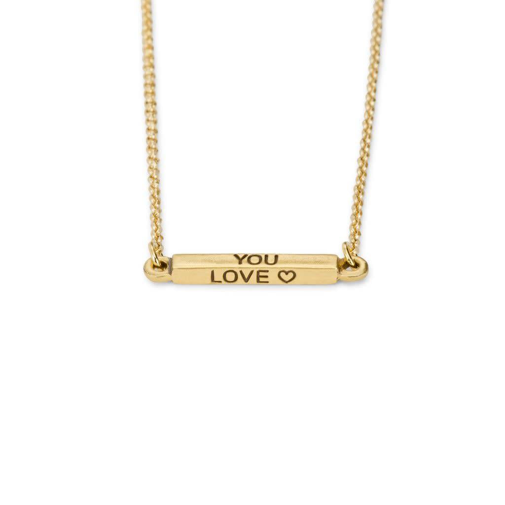 Do What You Love Gold Necklace
