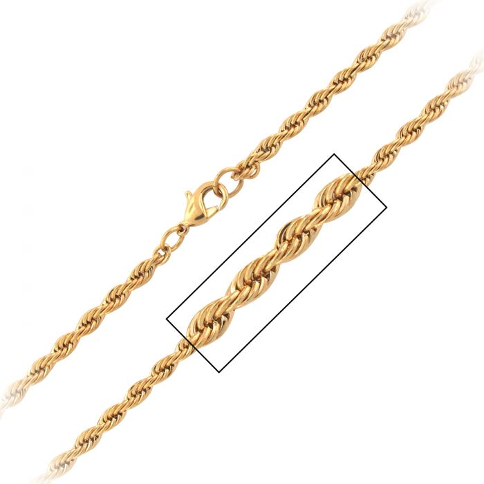 Steel Double Curb Chain Set 8mm