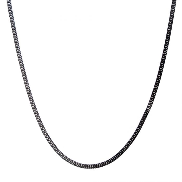 Stainless Steel Black Plated 8mm Diamond Curb Chain