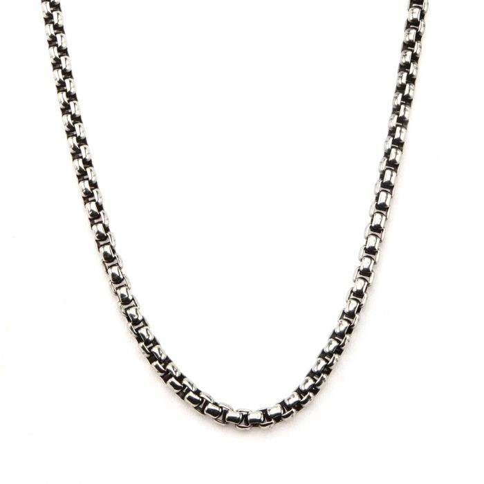 Black Oxidized Bold Box Chain 3mm